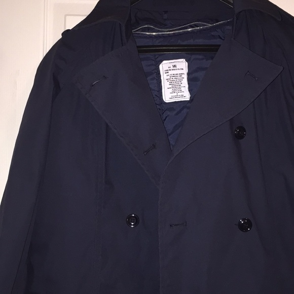 Something Navy Jackets & Blazers - Brand New Women's Blue Trench Coat